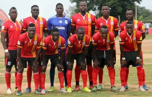 Uganda Cranes team that started the game against Northan Region select side on Saturday.