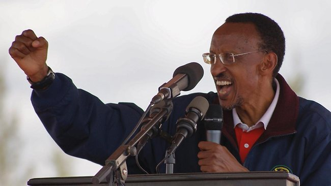 Rwandan president Paul Kagame speaks at a past function. File photo.