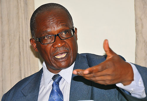Public Service minister Muruli-Mukasa has warned civil servants against protests over pay. File photo.