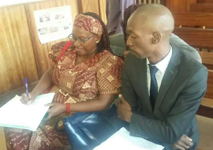 Stella Nyanzi (left) is battling charges related to offensive communication