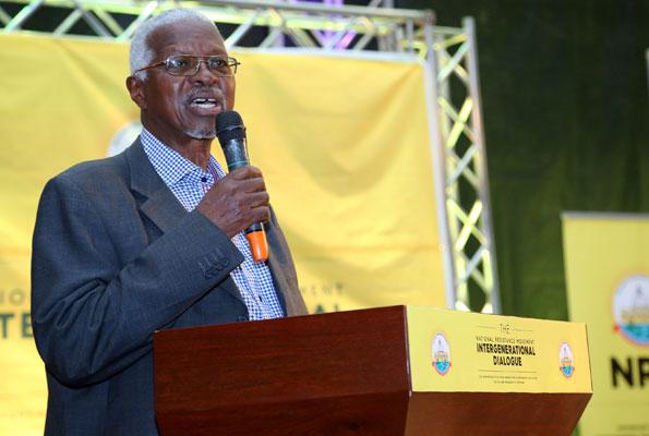 Prof. Edward Rugumayo signed the document on behalf of the elders. File photo.