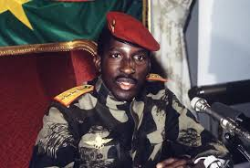 Thomas Sankara speaks at a past function.