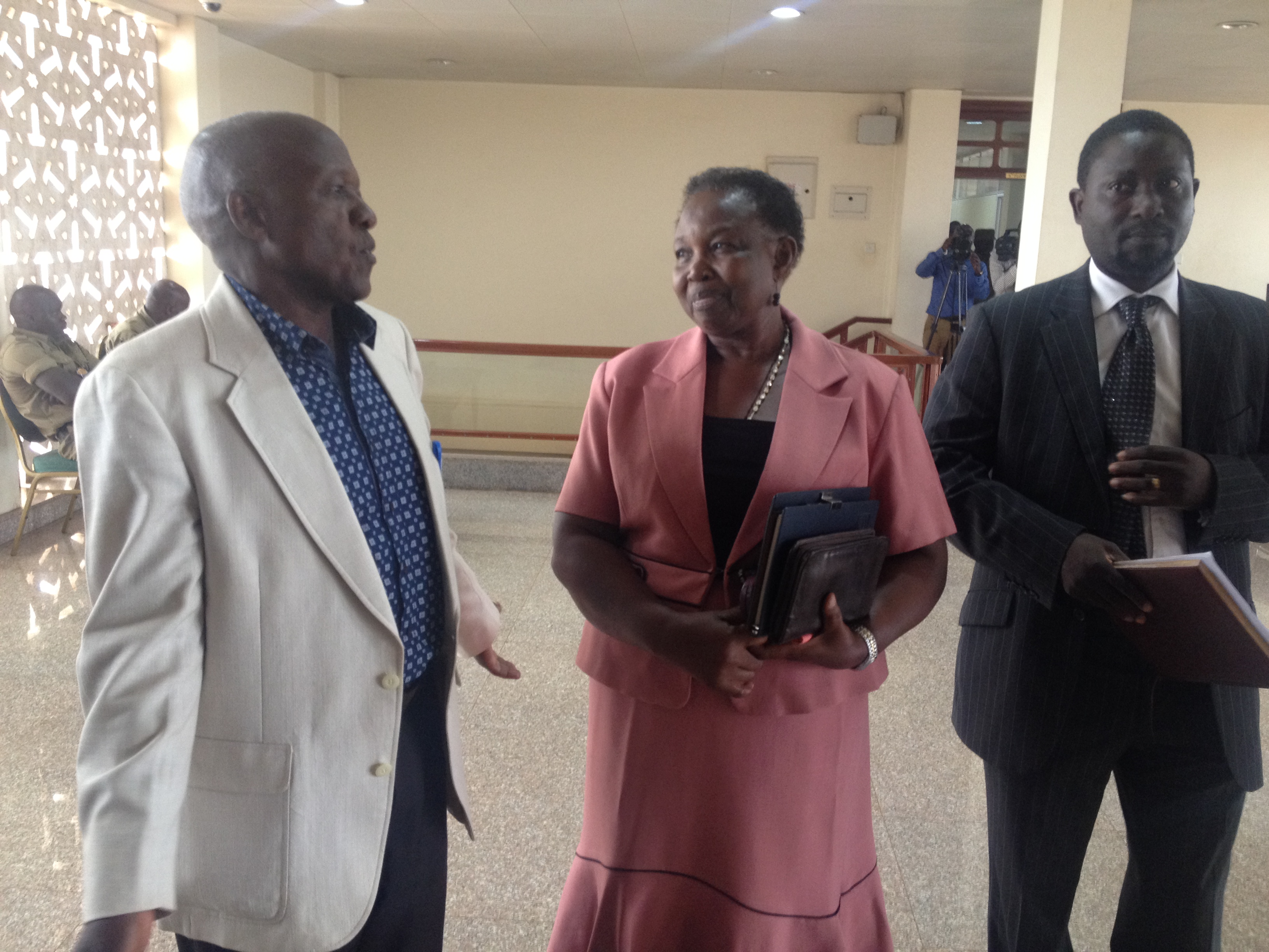 Photo by Beatrice Leni..Ex-employees of East African Airways at Parliament