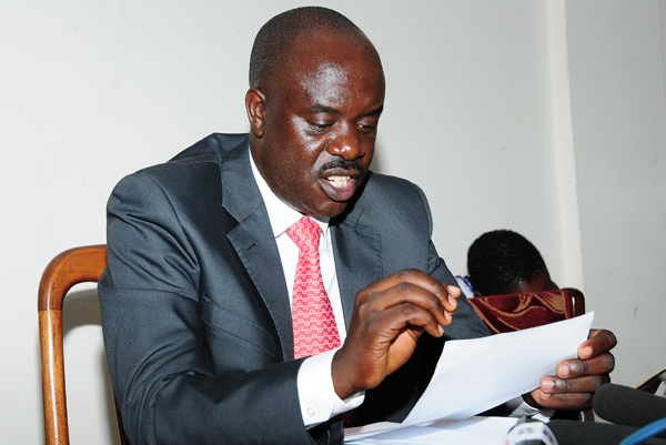 NRM Spokesperson Rogers Mulindwa has refuted claims that they printed People Power T-shirts and distributed them to ghetto youths to incite others (FILE PHOTO)
