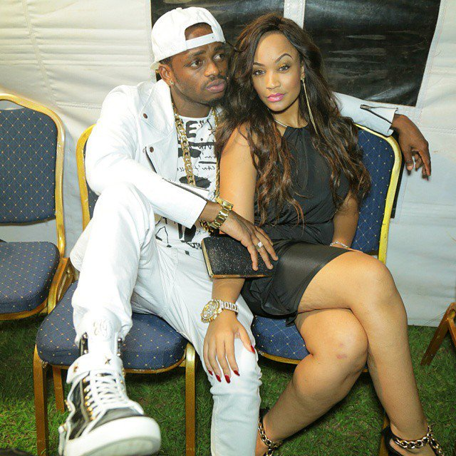 Diamond Platinumz and his wife Zari. File photo.