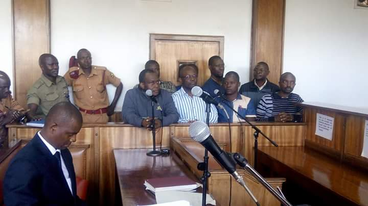 Red Pepper editors in the dock. Courtesy photo.