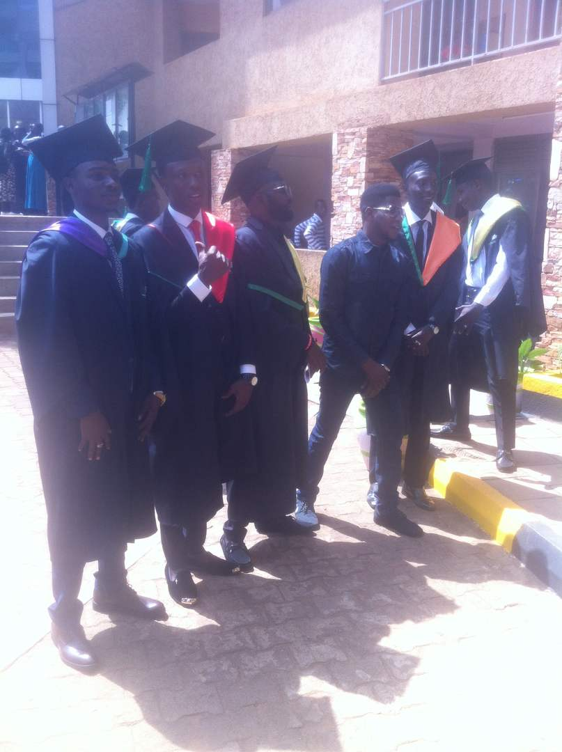 Some of the graduands at the event.