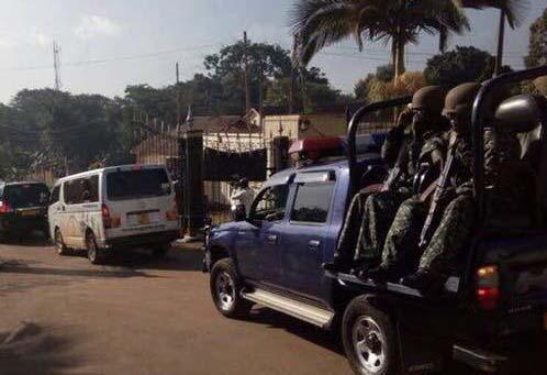 Premier Peter Mayiga's convoy enroute to Kayunga.