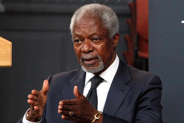 Former UN Secretary General Kofi Annan.