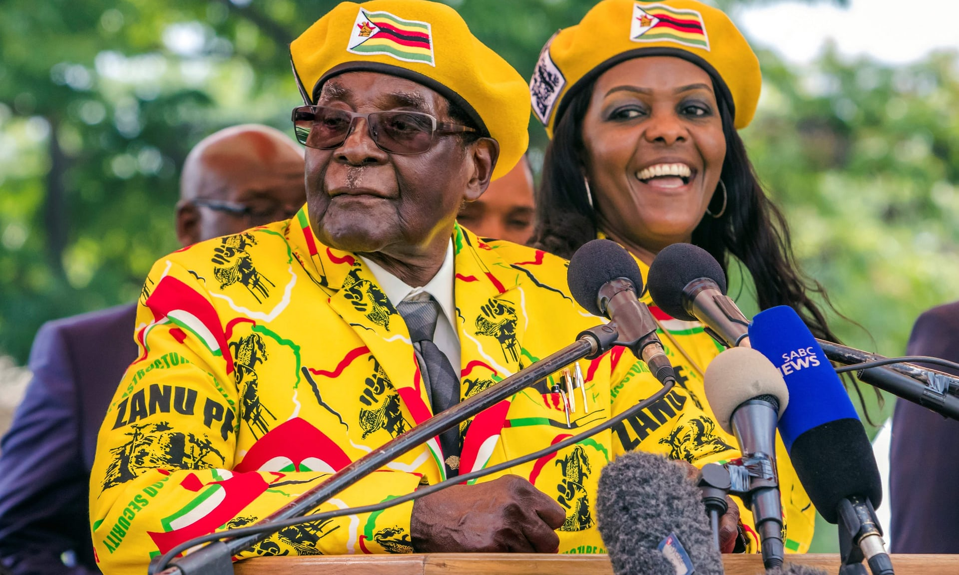 Robert Mugabe and wife Grace Mugabe during happier times.
