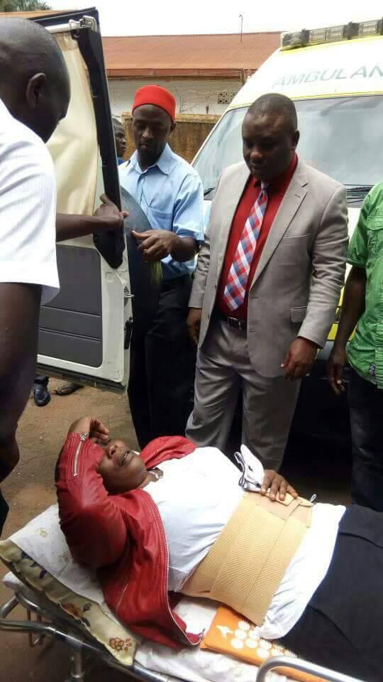Mukono Municipality MP Betty Namboze shortly before boardding the plane to India.