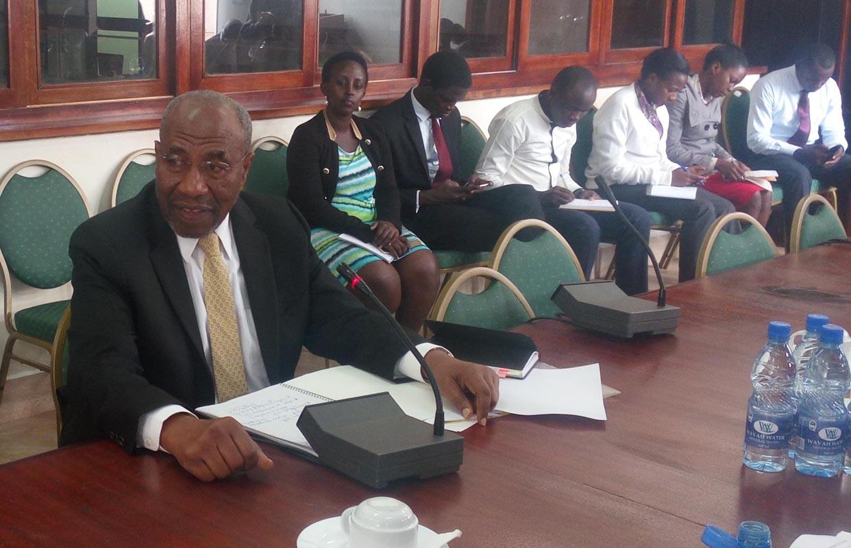 Premier Ruhakana Rugunda appears before the Legal Committee of Parliament.