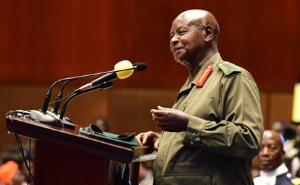 president Museveni speak at a past function. File photo.