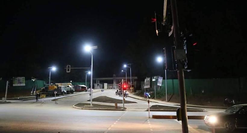 Makerere Hill Road under construction.