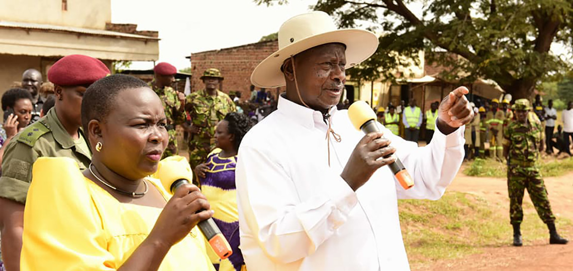 President Museveni speaks at a thanksgiving ceremony in Ngora.