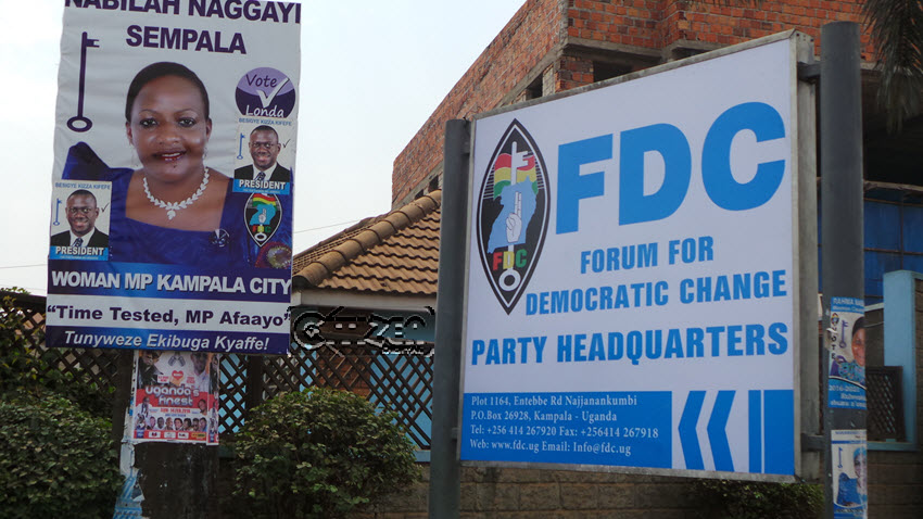 FDC party headquarters in Najjanakumbi have been Broken into (PHOTO/File)