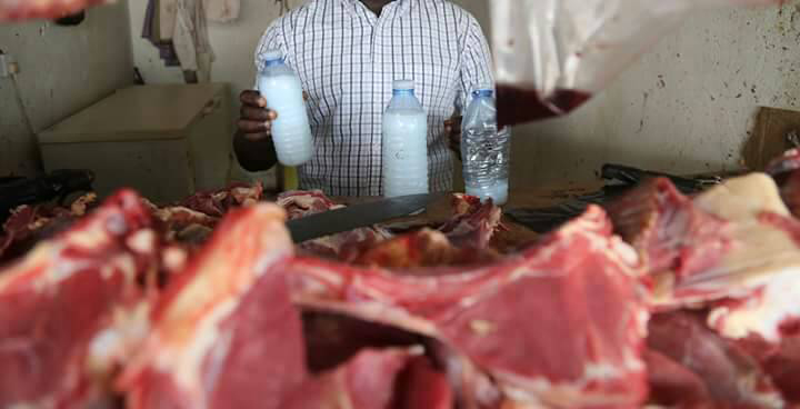 The detained butchers allegedly use chemicals used on dead bodies to preserve meat.