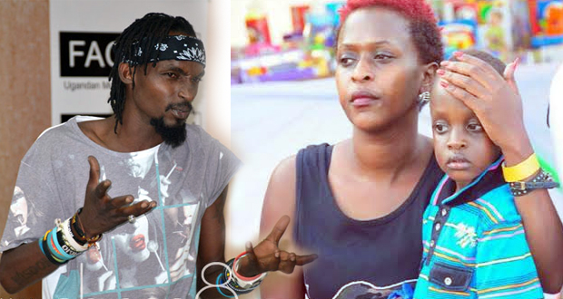 Lillian Mbabazi and Mowzey Radio with one of heir children before they separated.