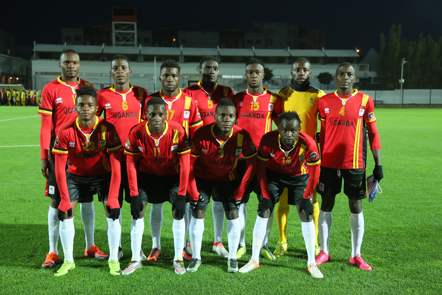 Pic 1. Cranes team that started against Guinea in 1-1 draw on Saturday