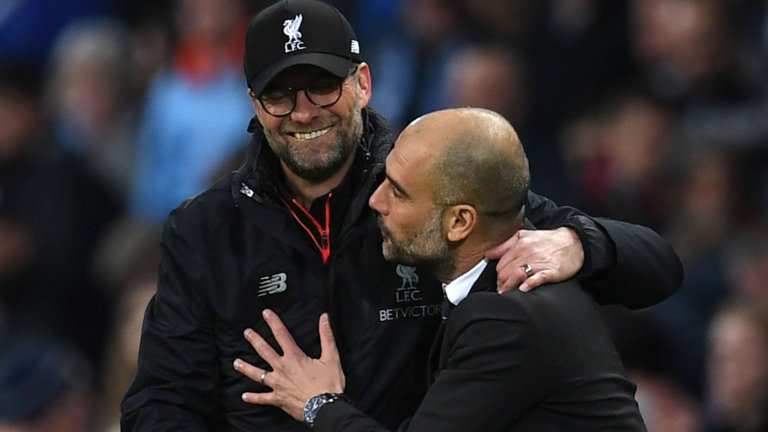 Jurgen Kloop(left) and Pep Guardiola(right) will both hold nothing back when their teams clash on Sunday evening