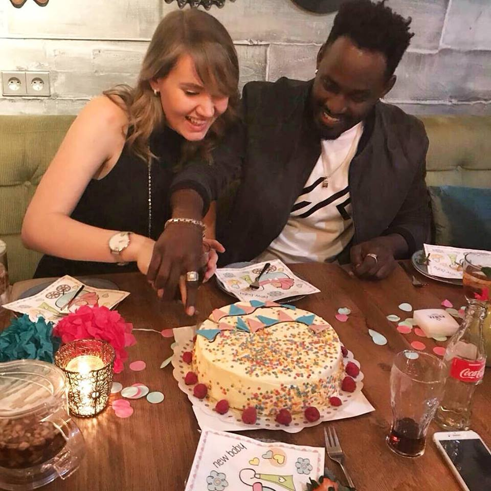 Musician Maurice Kirya and his Mzungu lover.