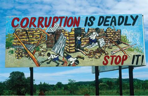 A billboard campaign against the corruption vice in Uganda: NET PHOTO