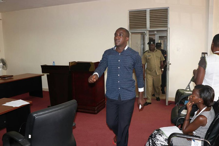 Kirumira marches out of the police court last week.