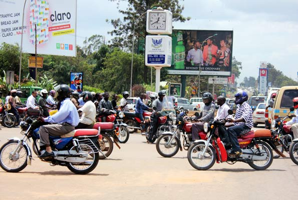 Boda Boda riders protest against rampant murders. (PHOTO/File)