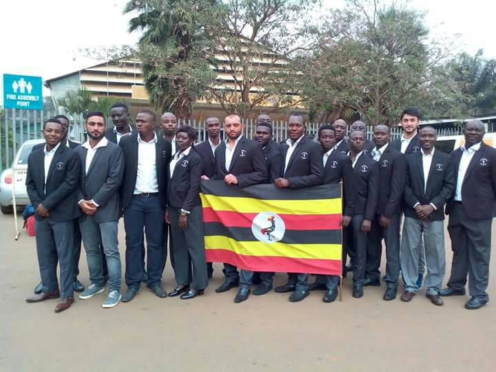 The Cricket Cranes team that has been flagged off at National Council of sports in Lugogo