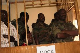 Some of the suspects in court at Makindye