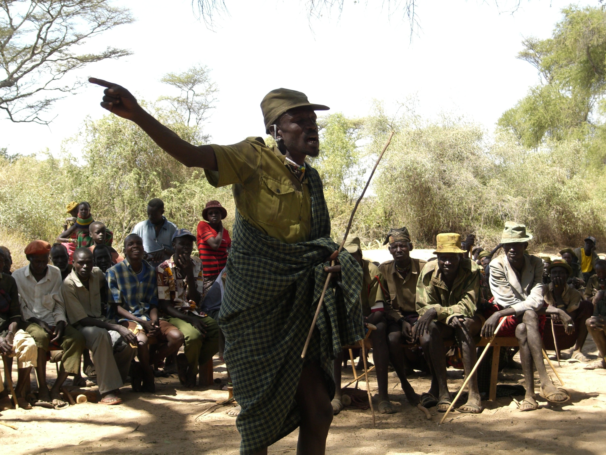 A Karimojong man speaks during a recent peace making initiative: NET PHOTO