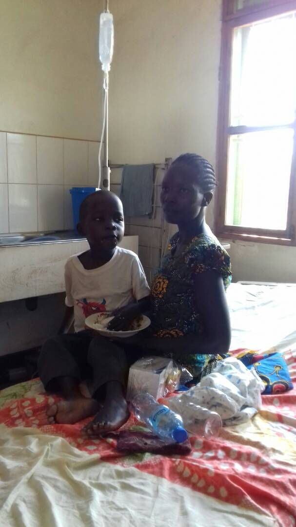 A patienta at Gulu hospital: PHOTO BY