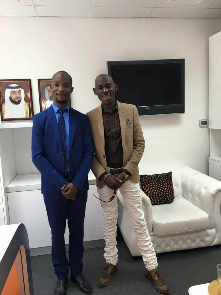 Ali Mbuga with his brother SK Mbuga who he says will soon be released from incarceration in Dubai: COURTESY PHOTO