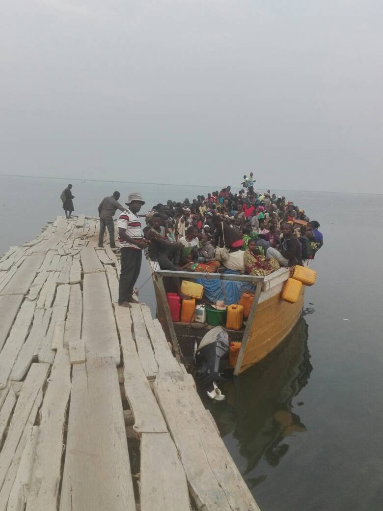 Refugees arrive at Kyangwali in Hoima early this month