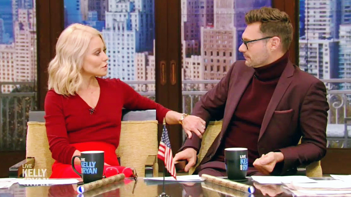 Kelly Ripa and Ryan Seacrest on the Live show