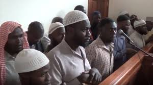 Suspects in the murder of police officer Andrew Felix Kaweesi stand trial at Nakawa court recently.