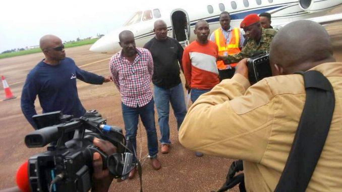 Former MP Tony Kipoi on arrival at Entebbe: COURTESY PHOTO