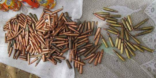 Bullets found during the raid.