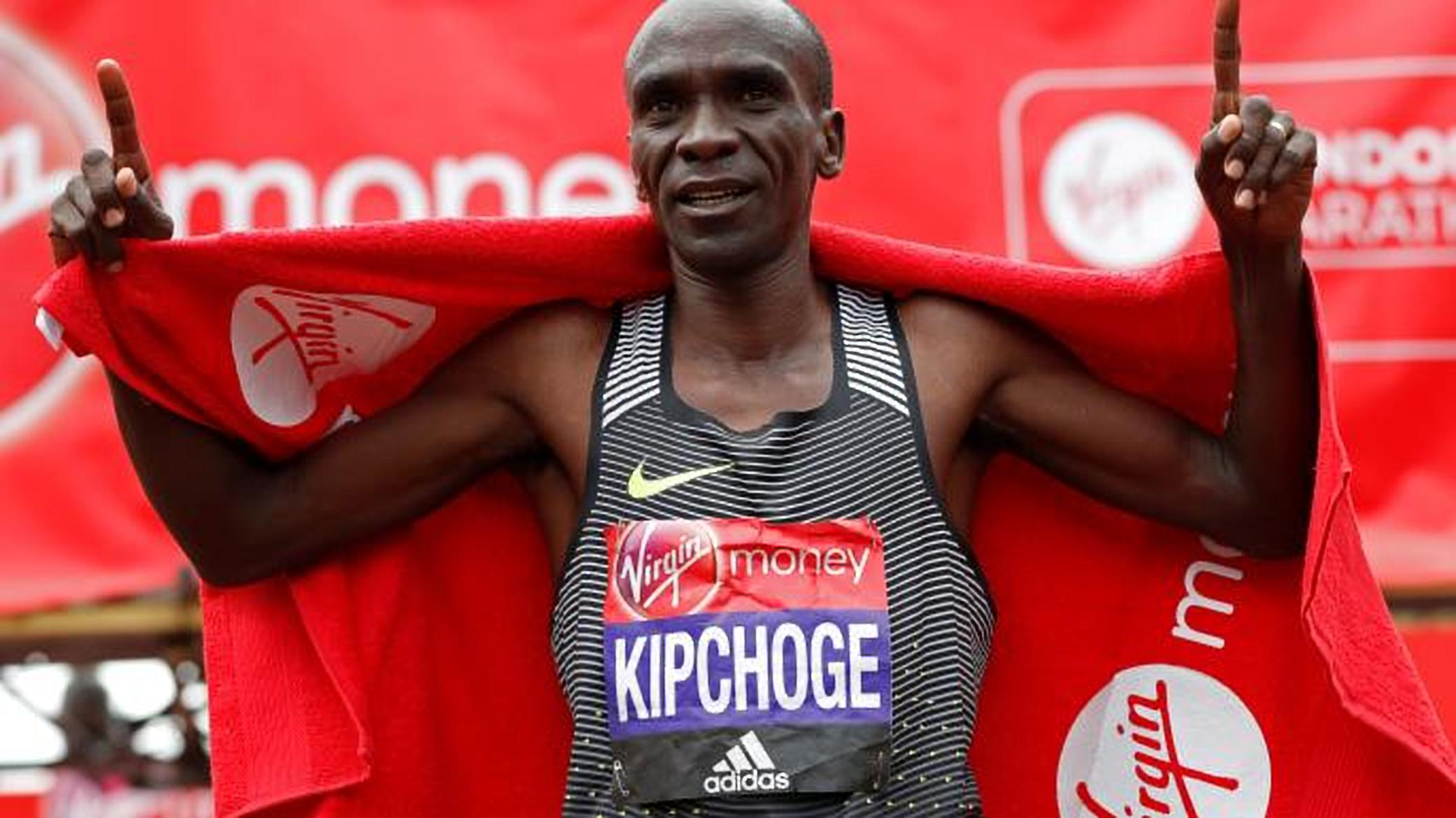 Kipchoge provided strong competition for Farah at the London Marathon