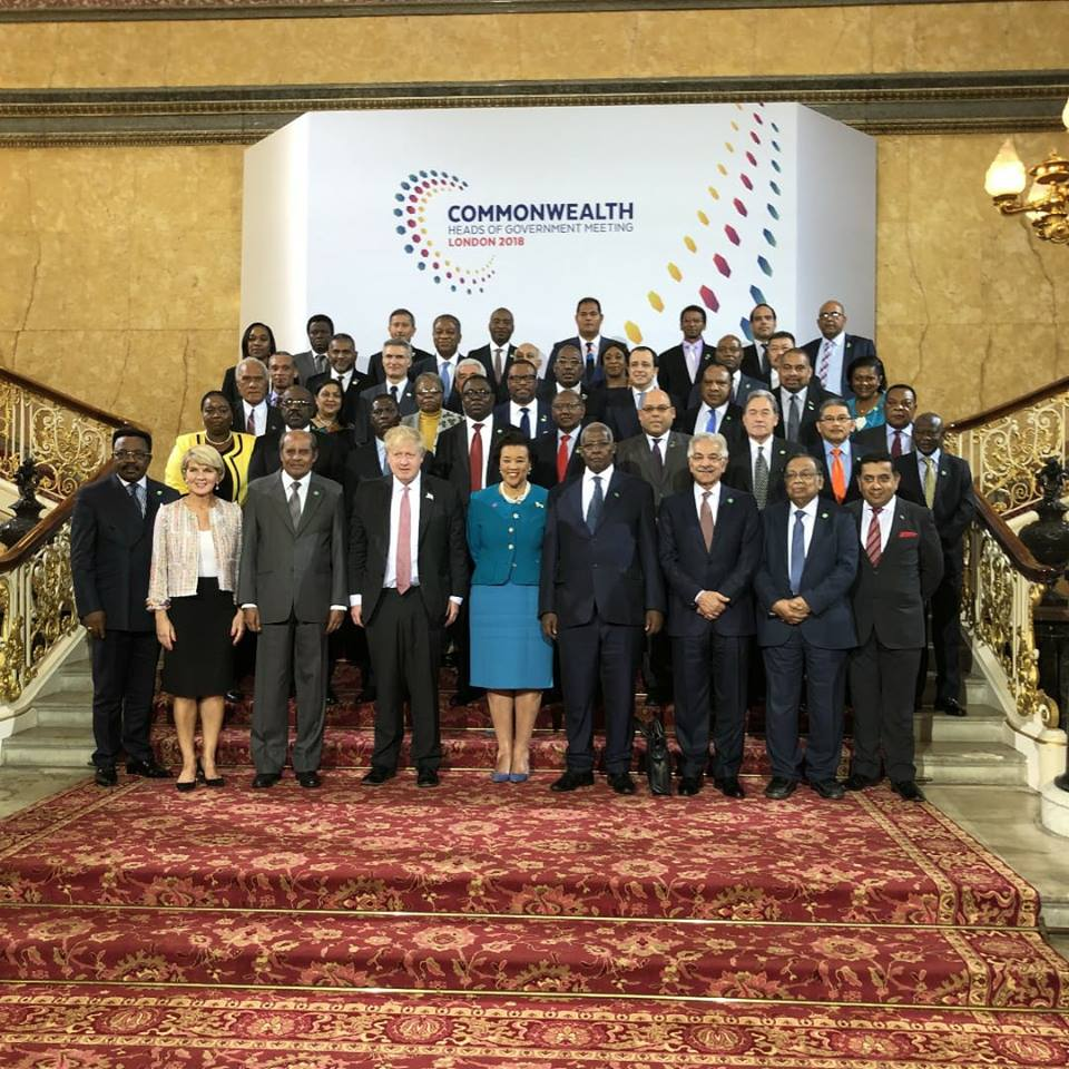 Commonwealth Foreign Ministers share a group photo after deliberations (COURTESY PHOTO)