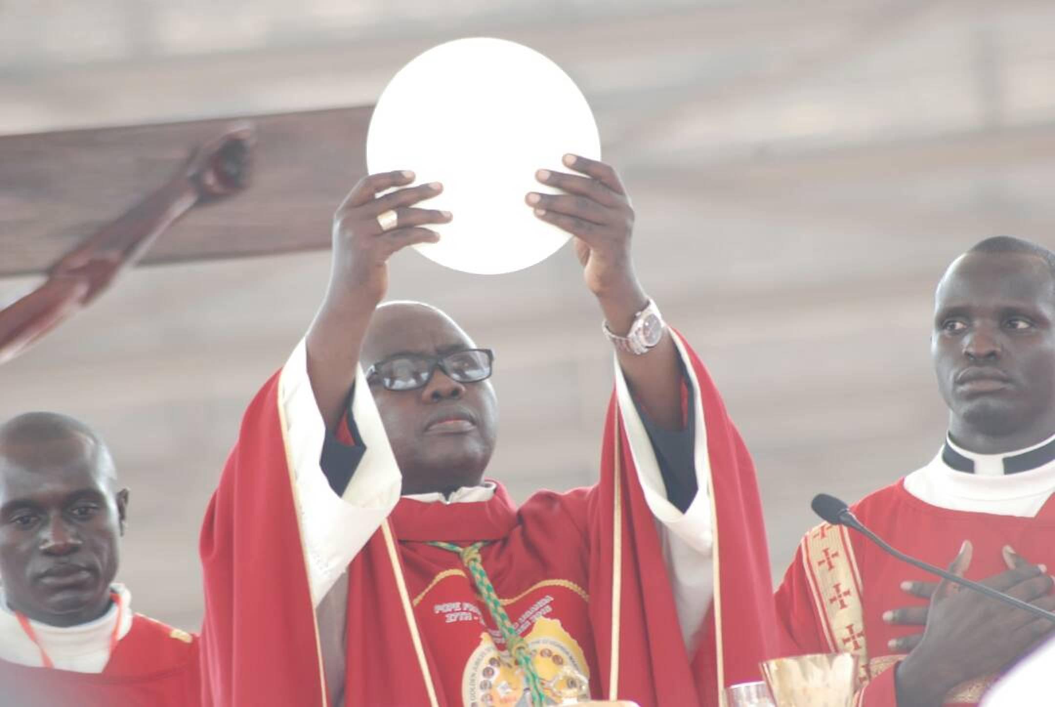 Bishop of Hoima Diocese, Vincent Kirabo, the main celebrant of 2017 Martyrs day