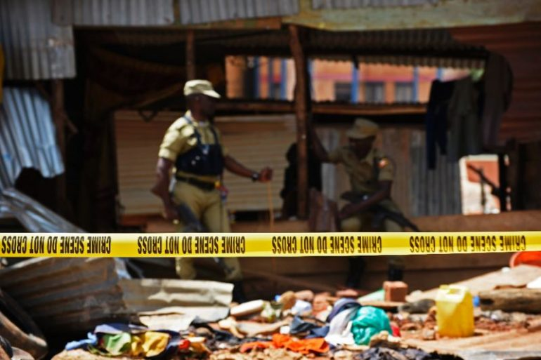 Security officers in Uganda shot dead two men, arrested dozens and rescued about 100 women and children from a radicalization center in a mosque in Kampala.