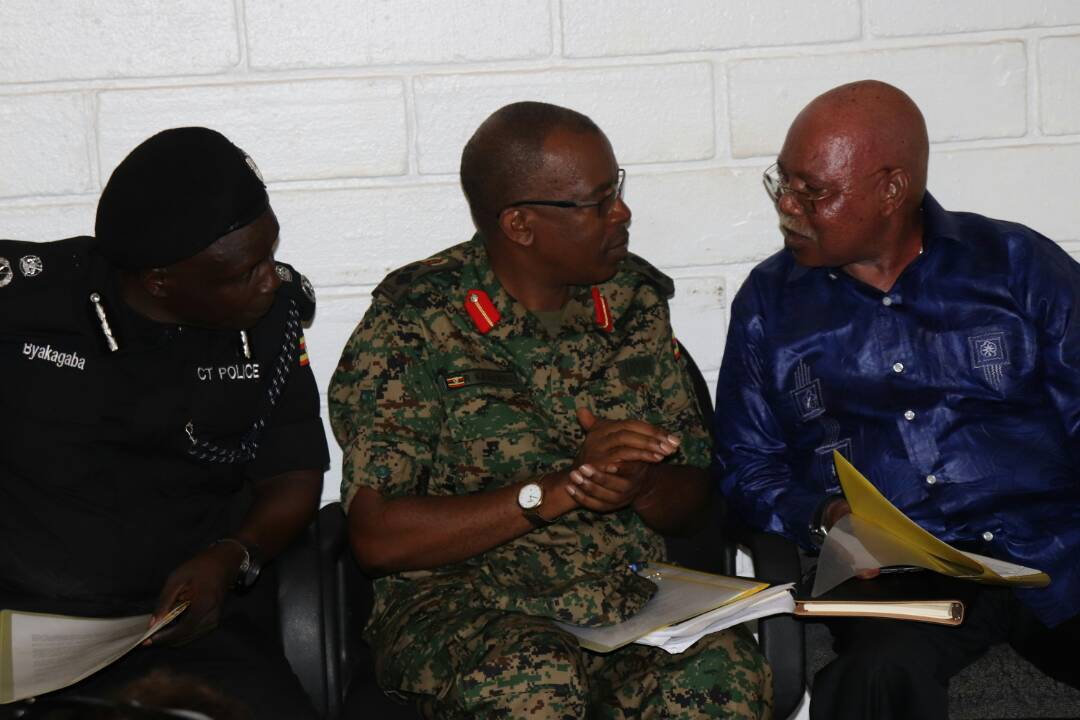 Internal Affairs minister Jeje Odongo, UPDF spokesperson Brig Richard Karemire (FILE PHOTO)