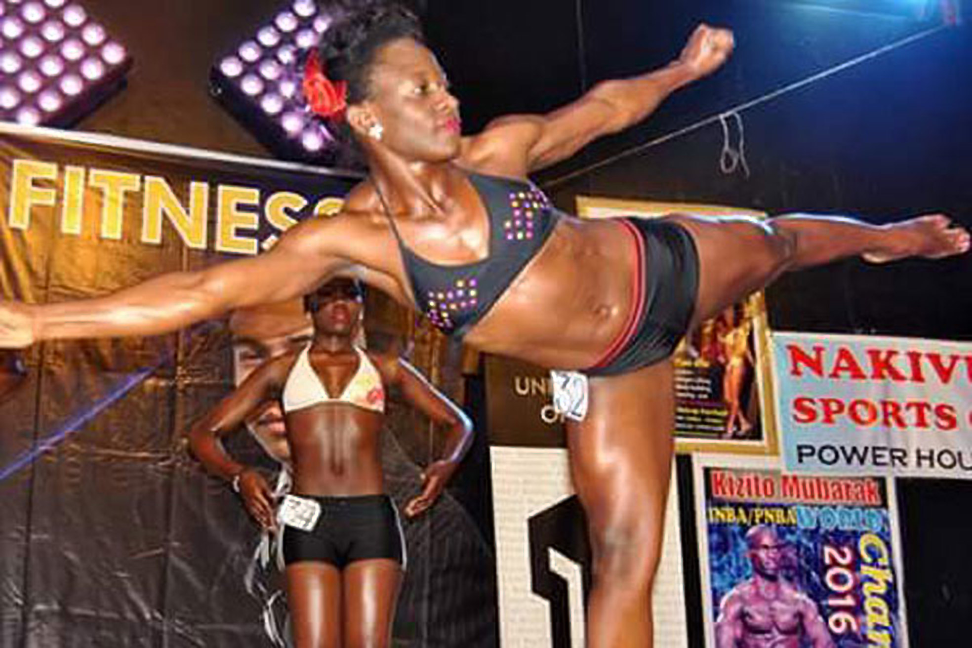 Body builder, Irene Kasuubo at Miss Fitness 2016 (FILE PHOTO)