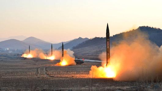 North Korea launches four missiles in an undisclosed location North Korea (FILE PHOTO)