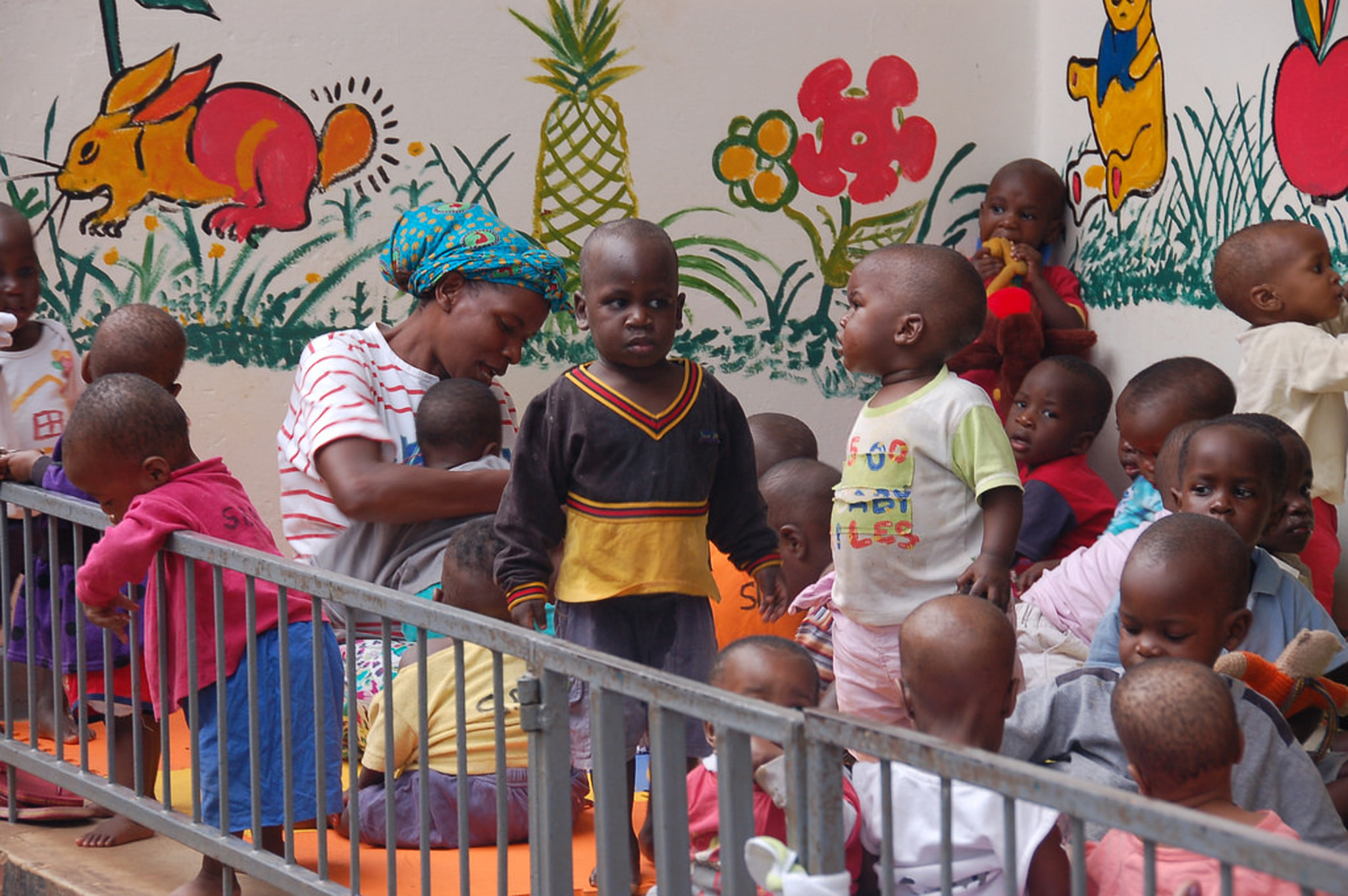 Children enjoy a play session at Sanyu Babies Home (COURTESY PHOTO)