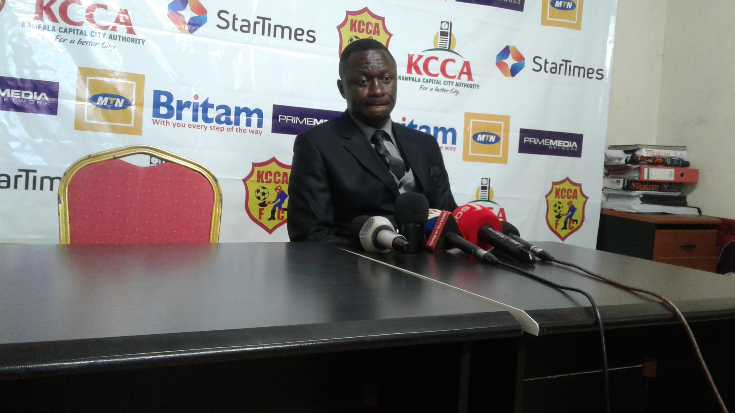 Mike Mutebi is confident his side can still win the league title (Photo by Shaban Lubega)