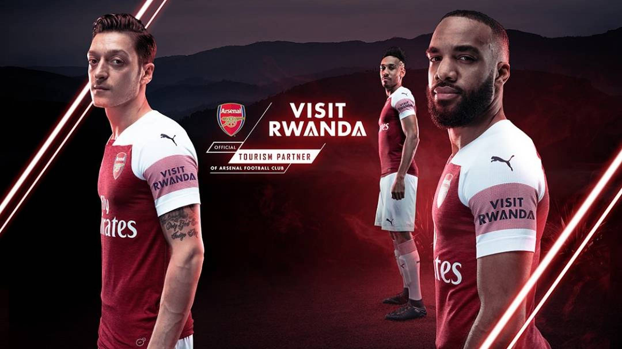 'Visit Rwanda' logo will feature on the left sleeve of team's kit as Arsenal our official Tourism Partner (NET PHOTO)