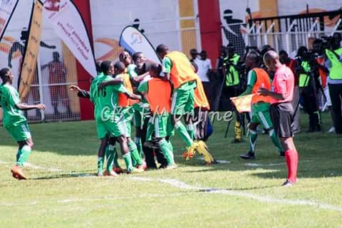 Mpindi players celebrating one of the goals on Saturday