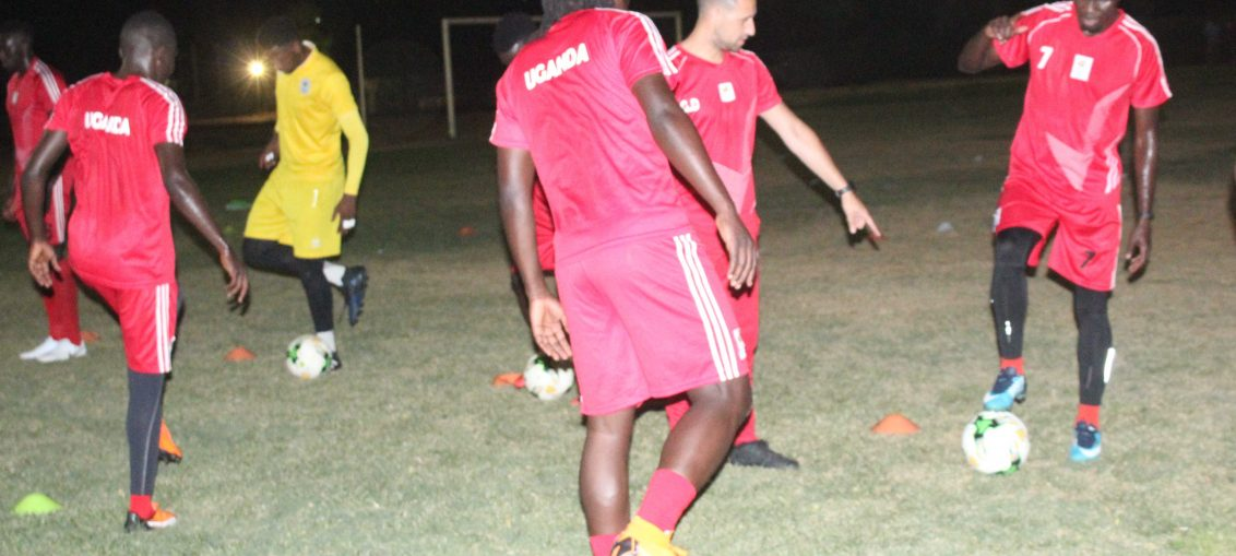 The Cranes during an evening traing session (Photo by FUFA media)